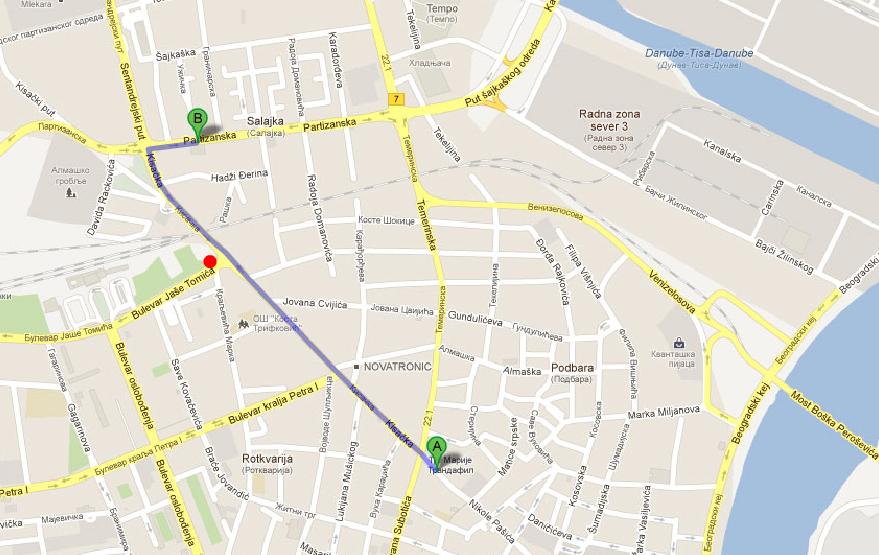 Prenociste Novi Sad Mapa 1 Prenociste Novi Sad Apartmani Stojic